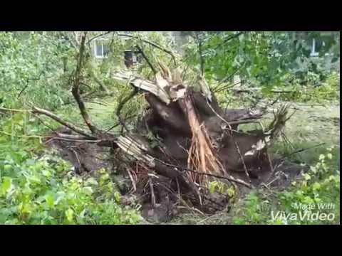 Последствия РАЗРУШИТЕЛЬНОГО Урагана 28.06.2016, УЖАС... (Брянская обл. г.Сельцо)