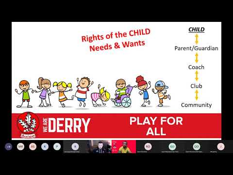 Derry GAA Webinar   Play For All with Owen Mooney
