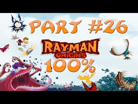 Rayman Origins - 100% Walkthrough Part #26 - Skull Tooth #8, Is My Fate! + Barney The Boss!