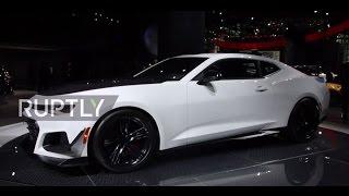 USA  Chevrolet showcases its Camaro Z/28 at NY International Auto Show