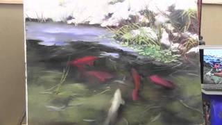 НОВЫЕ ВИДЕОУРОКИ ИГОРЯ САХАРОВА! 'Рыбки кои в прозрачной воде'