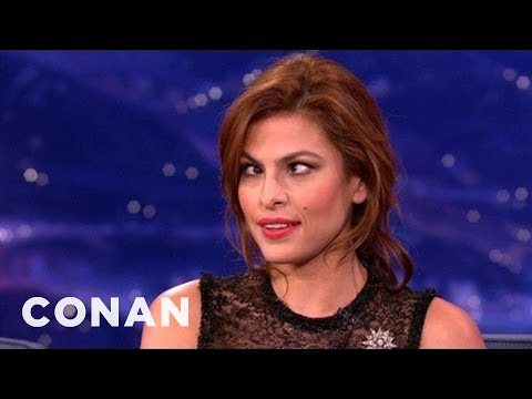 Eva Mendes Is Dead-Set On Hurting Her Eyes - CONAN on TBS