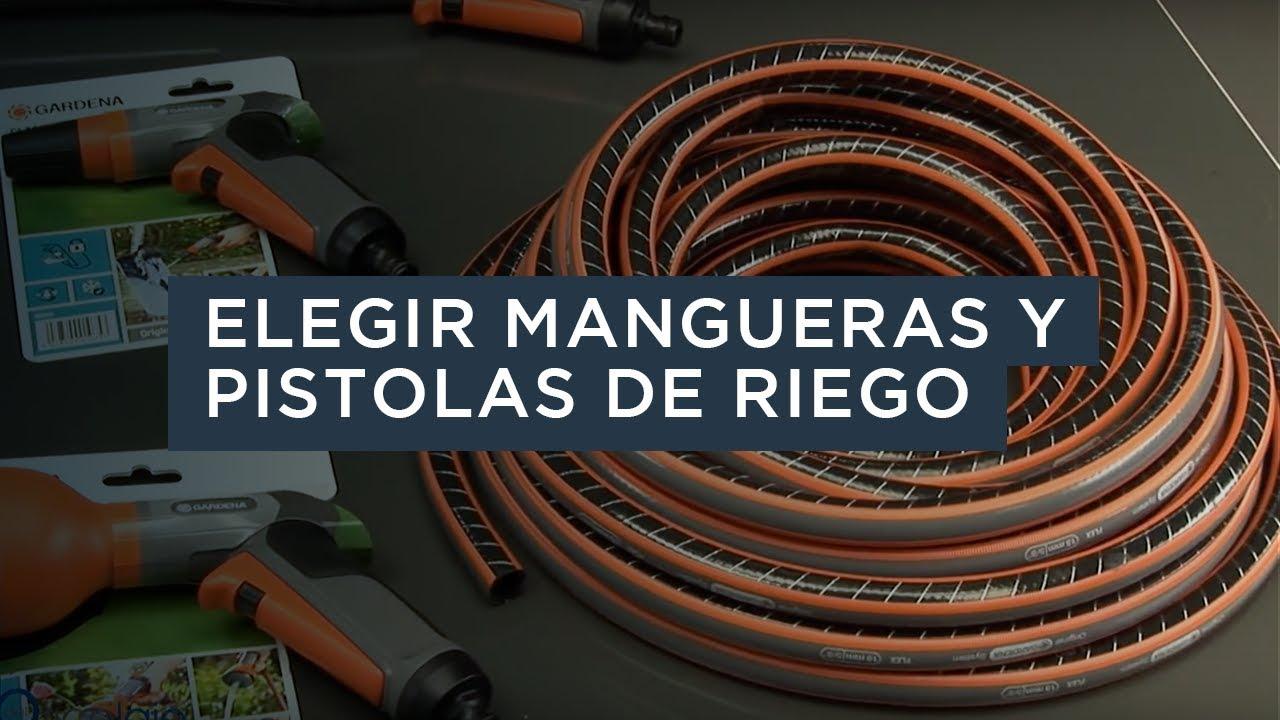 Elegir mangueras y pistolas de riego de gardena youtube for Manguera de jardin 1 2