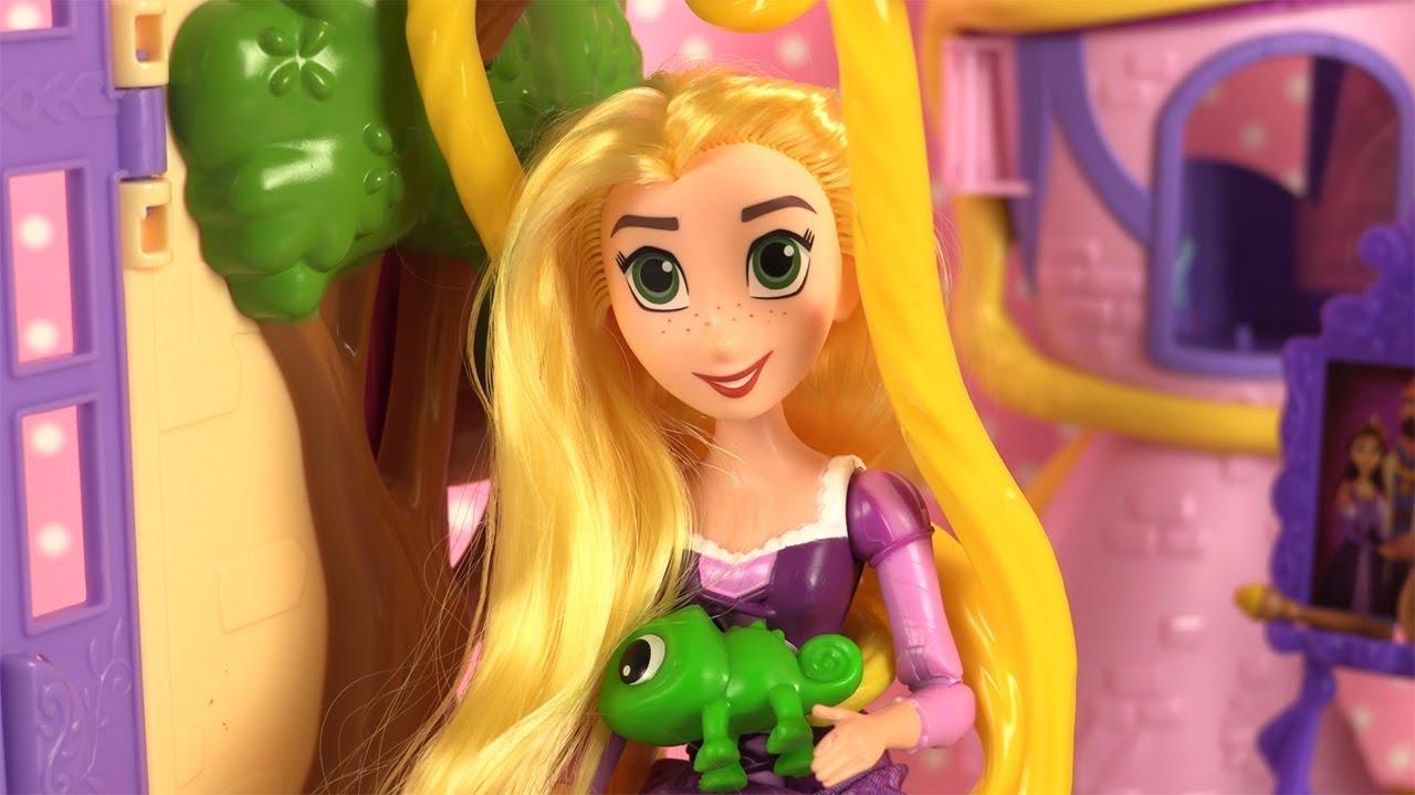Princesse disney la tour de raiponce robe de poup e youtube - La princesse raiponce ...
