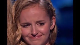 She Sings For Her Dead Farther    Don't Cry   She Is Fighting To The End | America's Got Talent 2017
