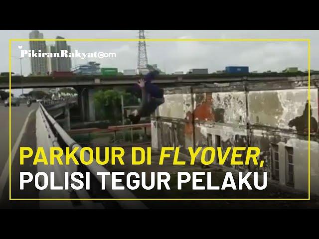 Dapat Teguran Polisi karena Lakukan Aksi Parkour di Flyover Kemayoran, Fansa Minta Maaf