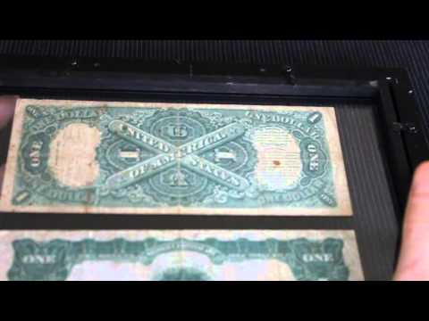 Very old One Dollar Silver Certificate and United States Note