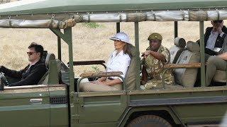 First Lady Melania Trump Visits Nairobi National Park
