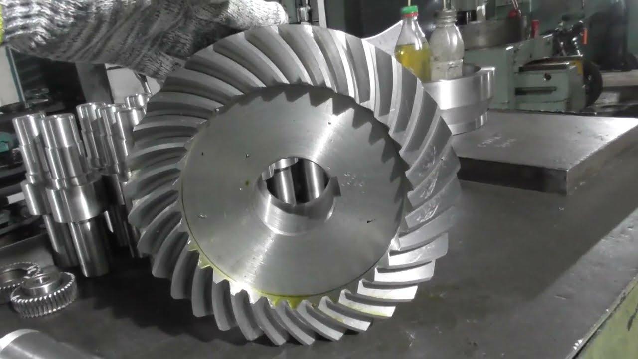 Изготовление шестерни с круговым зубом