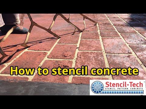 Stencil-tech How To Stencil Concrete