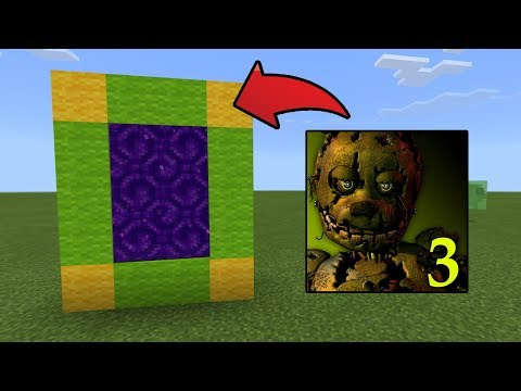 How To Make a Portal to the Five Nights At Freddy's 3 Dimension in MCPE (Minecraft PE)