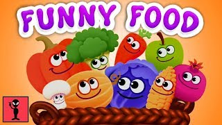 Learn Colors Shapes Sizes For Toddler & Preschooler | Funny Food For Kids