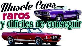 muscle cars raros y difciles de encontrar