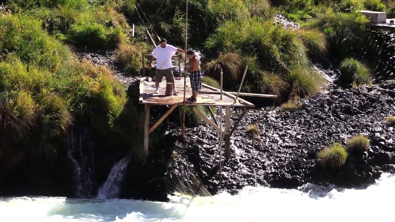 Native american hoop net fishing deschutes river near for Hoop net fishing