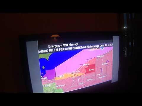 VERY CREEPY TORNADO WARNING ON TV!!! (EAS #1,268)