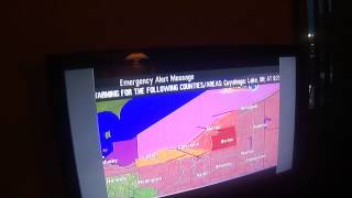 VERY CREEPY TORNADO WARNING ON TV!!! (EAS #1,268)