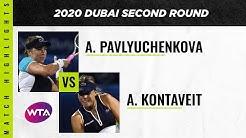 Anett Kontaveit vs. Anastasia Pavlyuchenkova   2020 Dubai Second Round   WTA Highlights