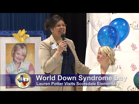 Lauren Potter visits Scotsdale Elementary School