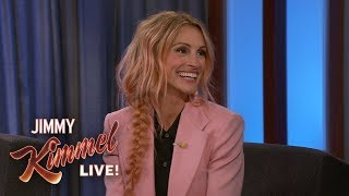Julia Roberts Still Has Pink Hair from Halloween