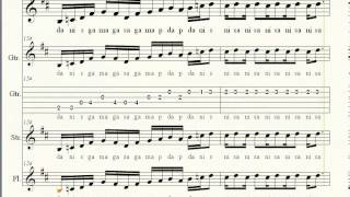 Mere Dholna Sun piano keyboard guitar notations  BGM