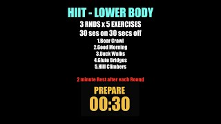 Week 12    HIIT Lower Body