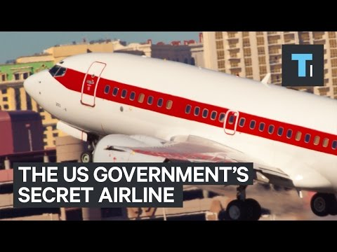 Secret US government airline at commercial airports