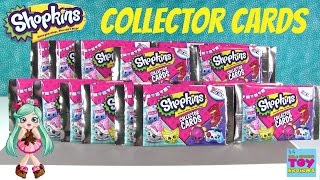 Paul vs Shannon Shopkins Collector Cards New Edition Challenge Blind Bag Opening | PSToyReviews
