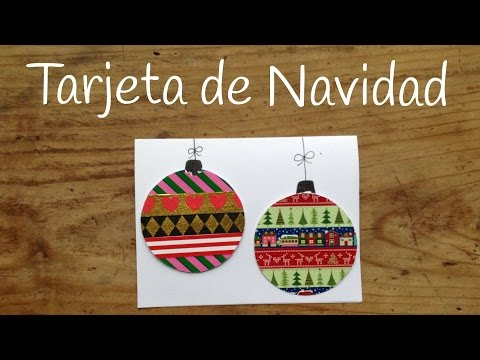 Cómo hacer tarjetas de navidad infantiles decoradas con washi tape