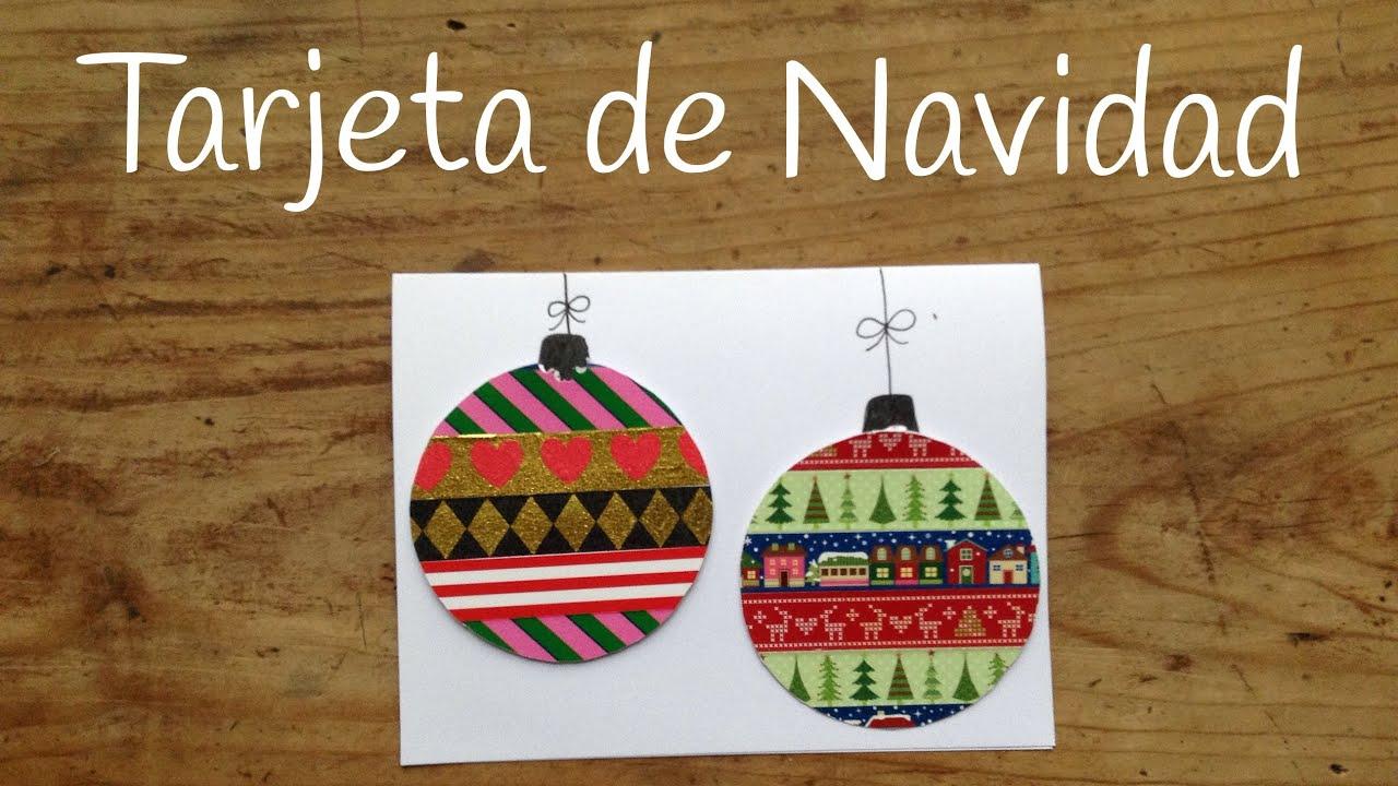 tarjetas de navidad para nios con bolas navideas de whasi tape