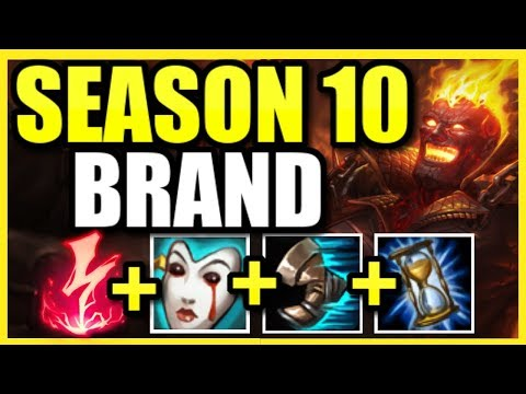 THE HIGHEST DAMAGE CHAMPION IN SEASON 10! BRAND SUPPORT IS 1000% BROKEN IN THE BOTLANE! BRAND GUIDE
