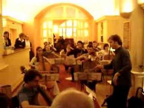 Brahms - Sextet excerpt for twelve cellos
