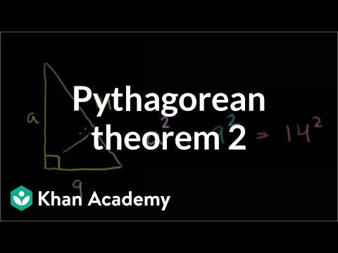 Pythagorean theorem 2 | Right triangles and trigonometry | Geometry | Khan Academy