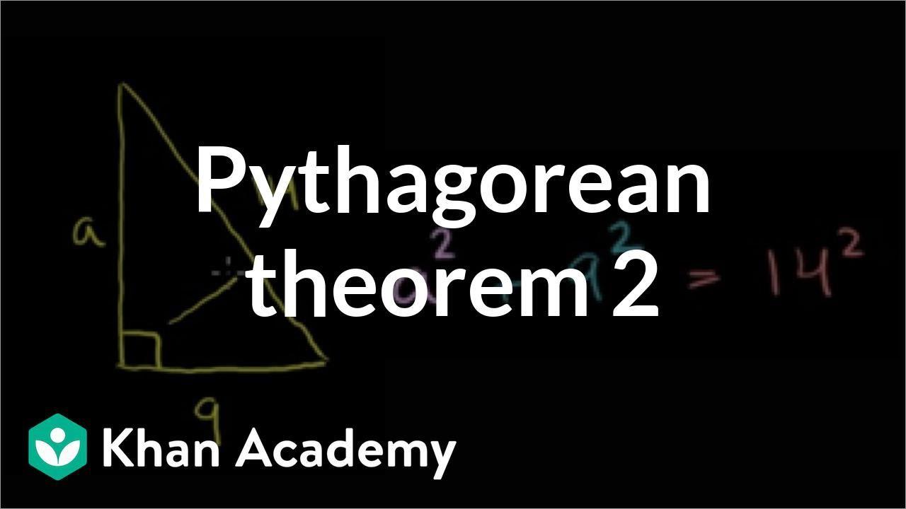 Pythagorean theorem example (video)   Khan Academy [ 720 x 1280 Pixel ]