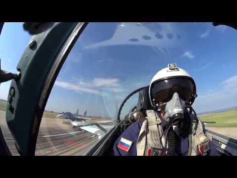 "Su-27's fighters from Belbek airbase over Crimea during military drills ""Kavkaz-2016"""