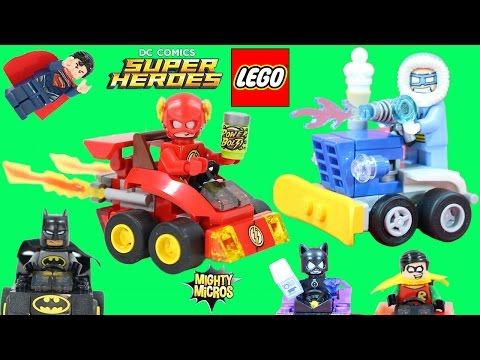 Lego DC Comics Super Heroes Mighty Micros The Flash vs Captain Cold with Superman, Batman,& Robin!