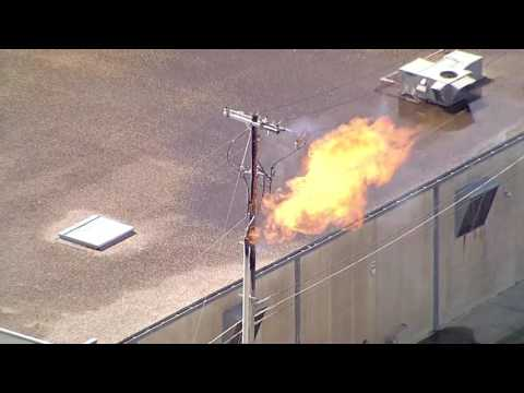 BREAKING NEWS - Fort Worth Gas Line Fire