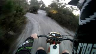 Awesome dirt bike with fourwheeler tires