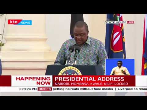 Presidential address on COVID-19 in Kenya by President Uhuru Kenyatta | Full Video
