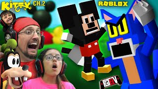 ROBLOX KITTY Chapter 2!  ESCAPE Mickey's CLUBHOUSE  (FGTeeV Gameplay)