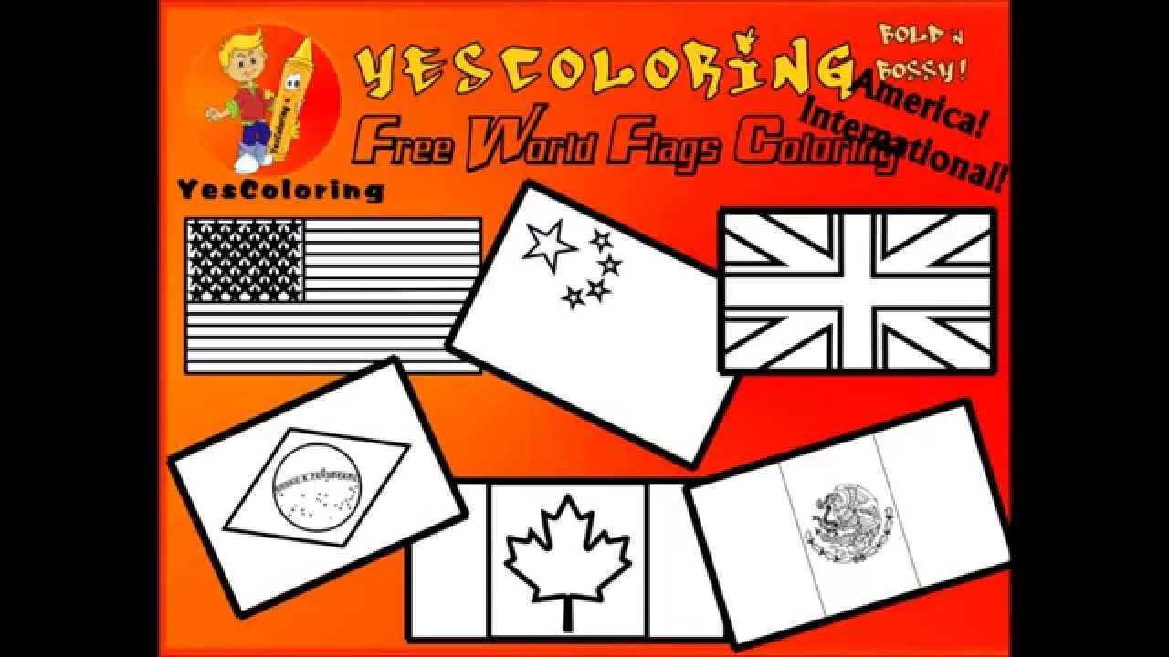 Grand World Flag Coloring Pages National Flags YesColoring YouTube