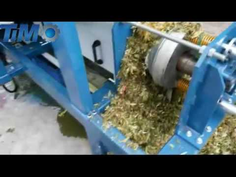 Organic food waste shredding & dewatering