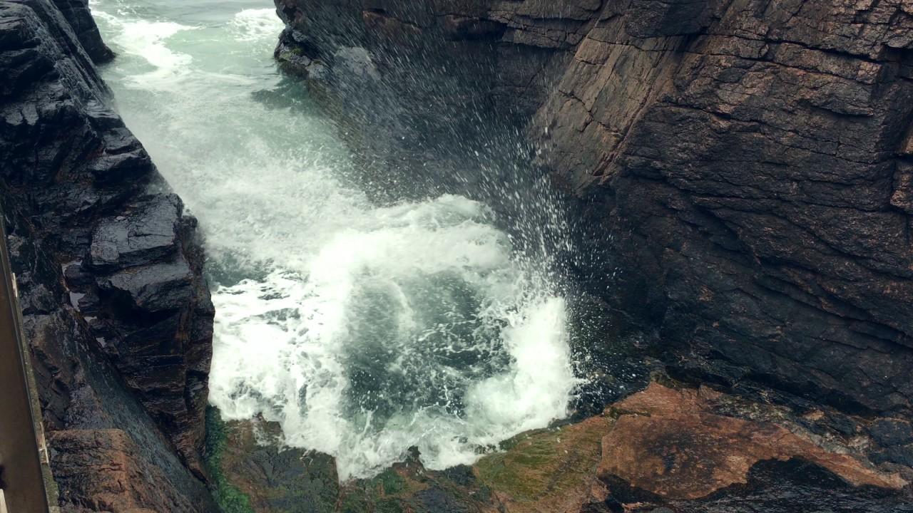 Thunder hole acadia national park 4k youtube for Thunder hole acadia