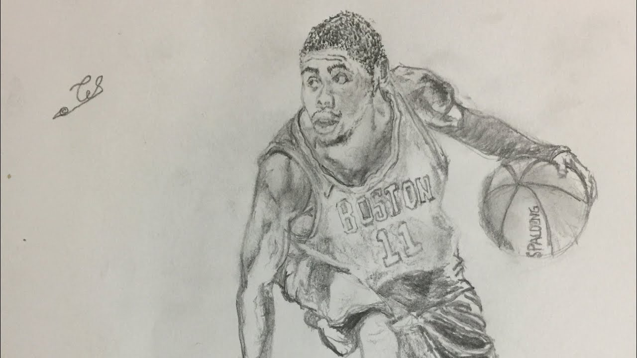 more photos 1c6e8 254ee Kyrie Irving, boston celtics drawing