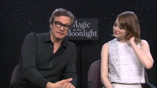 Colin Firth & Emma Stone chat about Magic in the Moonlight