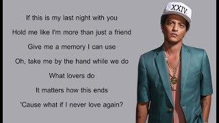 Bruno Mars - All I Ask : Lyrics // Adele Cover