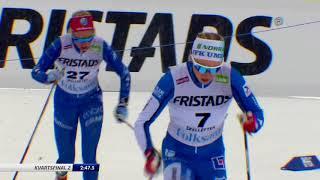 Längdskidor SM 2018  Sprint final dam och herr Skellefteå