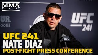 UFC 241: Nate Diaz Post-Fight Press Conference - MMA Fighting