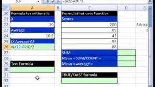 Excel Statistics 02: Calculations, Operators, Formulas