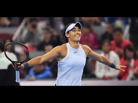 Garcia sets up Halep final in Beijing