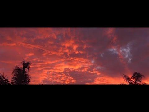 ASMR Thunderstorm Sounds Over Sunset Footage